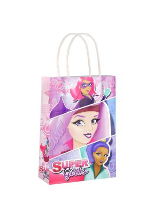 Supergirl Paper Party Bag with Twisted Handles