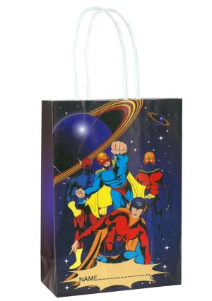 Superhero Paper Party Bag with Twisted Handles