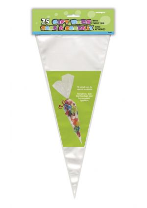 A pack of 25 Sweet Cone Bags