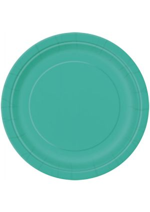 Teal Paper Plates 22cm 16 Pack