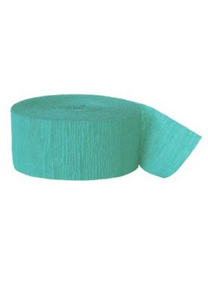 Teal Crepe Paper Streamer