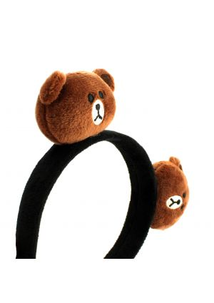 Brown Teddy Bear Aliceband