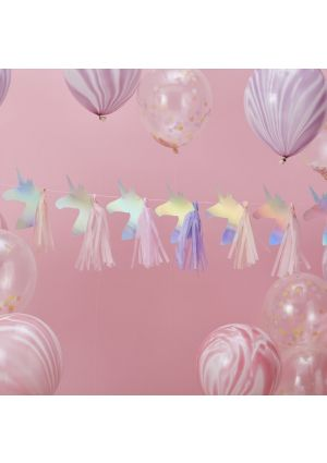 Iridescent Foiled Unicorn Tassel Garland - Make A Wish