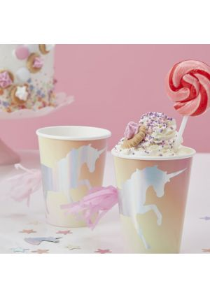 Iridescent Unicorn Party Paper Cups