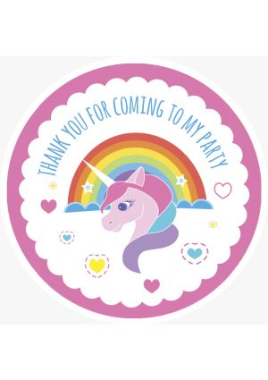 Unicorn Party Label