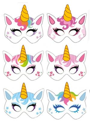 Unicorn Mask - Card