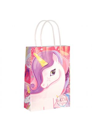 Unicorn Paper Party Bag with Twisted Handles