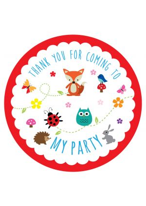 Woodland Party Label