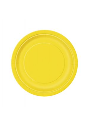 Sunflower Yellow Paper Plates 17cm - 20pk