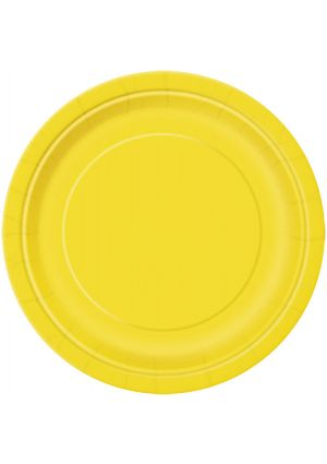 Sunflower Yellow Paper Plates 22cm - 16pk