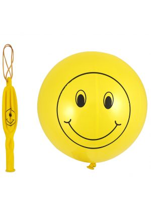 Yellow Smiley Punch Balloon