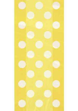 Sunflower Yellow Spotty Cellophane Party Bags